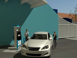 Anaheim Hydrogen Station Rendering Close Angle