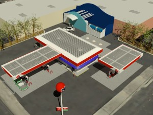 Anaheim Hydrogen Station Rendering Overhead Angle