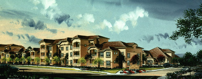 Artist Rendering The Bluffs - A Residential Community - Reno, Nevada